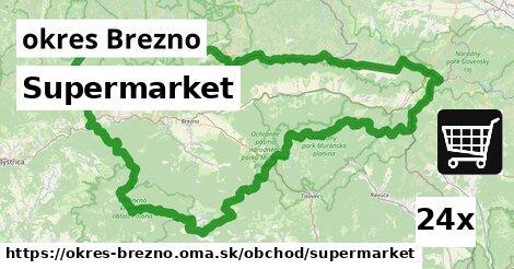 Supermarket, okres Brezno
