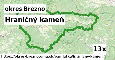Hraničný kameň, okres Brezno