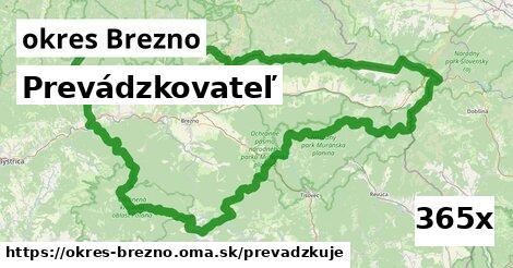 prevádzkovateľ v okres Brezno