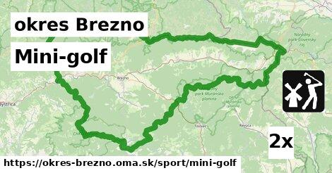 Mini-golf, okres Brezno