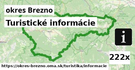 ilustračný obrázok k Turistické informácie, okres Brezno