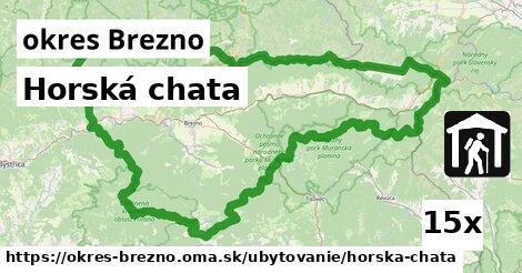 Horská chata, okres Brezno