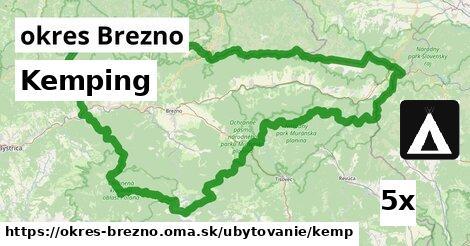 Kemping, okres Brezno