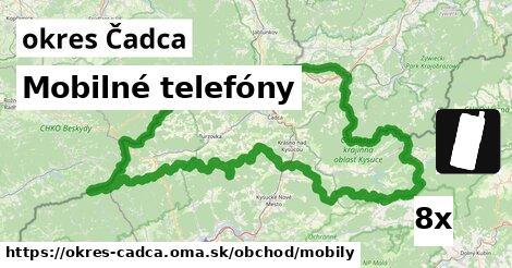 Mobilné telefóny, okres Čadca