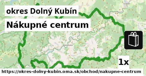 Nákupné centrum, okres Dolný Kubín