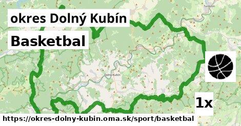 Basketbal, okres Dolný Kubín