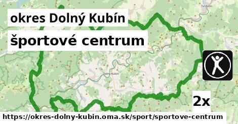 športové centrum, okres Dolný Kubín
