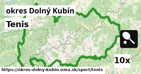 Tenis, okres Dolný Kubín