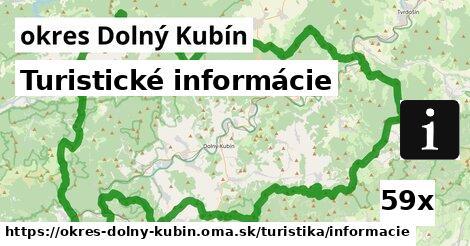 ilustračný obrázok k Turistické informácie, okres Dolný Kubín