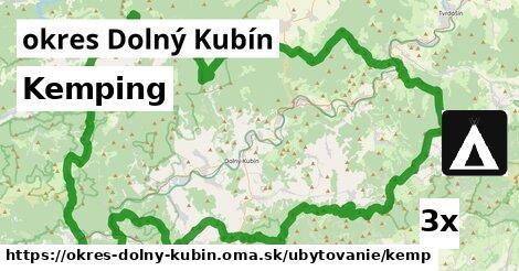 kemping v okres Dolný Kubín