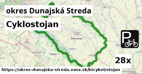 Cyklostojan, okres Dunajská Streda