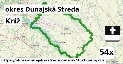 kríž v okres Dunajská Streda