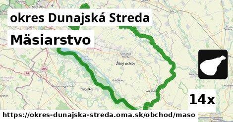 Mäsiarstvo, okres Dunajská Streda
