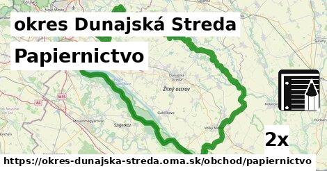Papiernictvo, okres Dunajská Streda