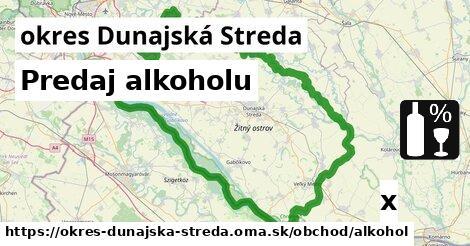 ilustračný obrázok k Predaj alkoholu, okres Dunajská Streda