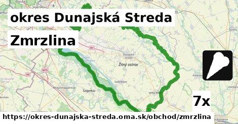zmrzlina v okres Dunajská Streda