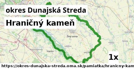 hraničný kameň v okres Dunajská Streda