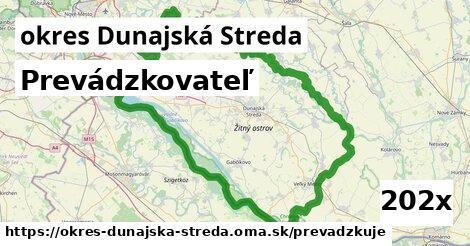 prevádzkovateľ v okres Dunajská Streda