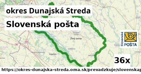 ilustračný obrázok k Slovenská pošta, okres Dunajská Streda