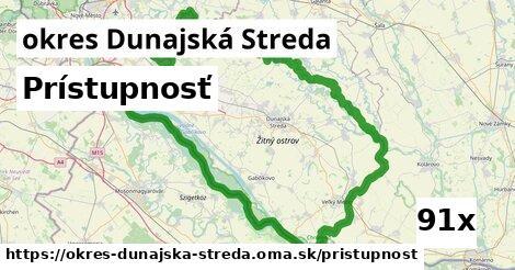 prístupnosť v okres Dunajská Streda