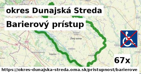 barierový prístup v okres Dunajská Streda