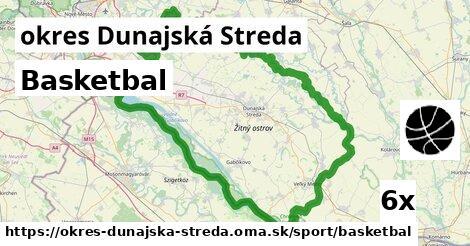 Basketbal, okres Dunajská Streda