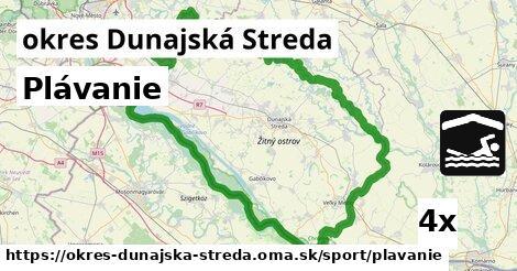 ilustračný obrázok k Plávanie, okres Dunajská Streda