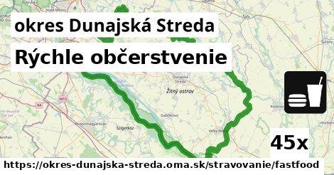 Rýchle občerstvenie, okres Dunajská Streda