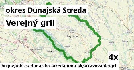 Verejný gril, okres Dunajská Streda