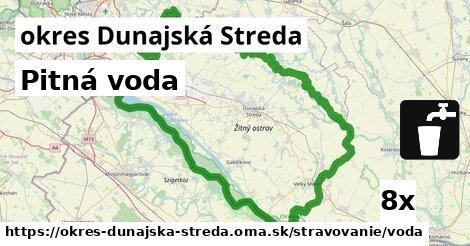 Pitná voda, okres Dunajská Streda