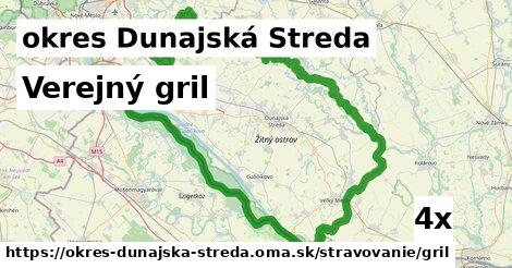 verejný gril v okres Dunajská Streda