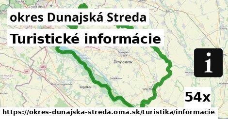 turistické informácie v okres Dunajská Streda