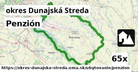 Penzión, okres Dunajská Streda