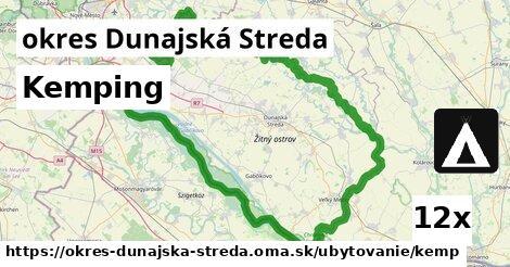 kemping v okres Dunajská Streda