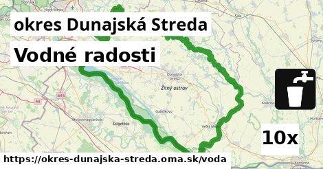 vodné radosti v okres Dunajská Streda