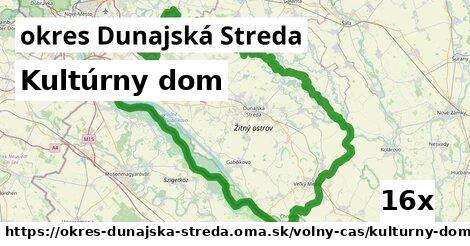 kultúrny dom v okres Dunajská Streda