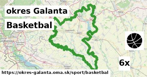 ilustračný obrázok k Basketbal, okres Galanta