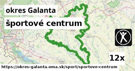 ilustračný obrázok k športové centrum, okres Galanta