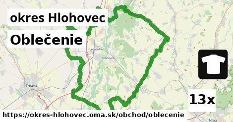 ilustračný obrázok k Oblečenie, okres Hlohovec