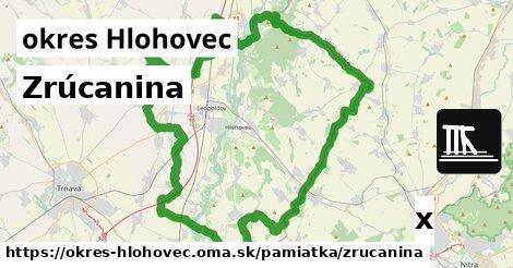 ilustračný obrázok k Zrúcanina, okres Hlohovec