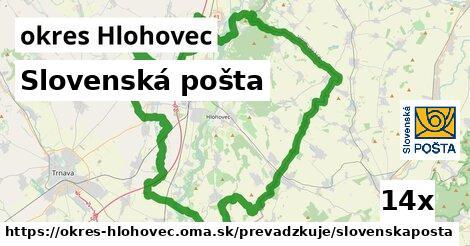 ilustračný obrázok k Slovenská pošta, okres Hlohovec