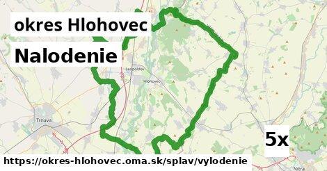 nalodenie v okres Hlohovec