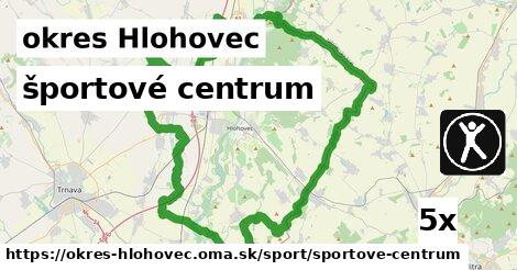 ilustračný obrázok k športové centrum, okres Hlohovec
