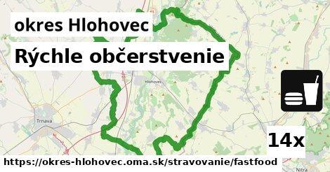 ilustračný obrázok k Rýchle občerstvenie, okres Hlohovec
