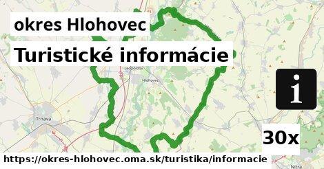 ilustračný obrázok k Turistické informácie, okres Hlohovec