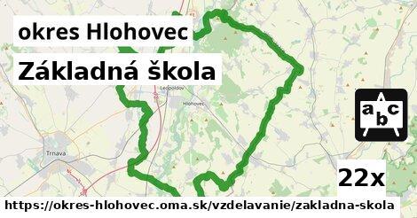 ilustračný obrázok k Základná škola, okres Hlohovec