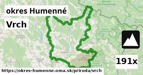 vrch v okres Humenné