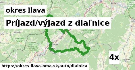 ilustračný obrázok k Príjazd/výjazd z diaľnice, okres Ilava