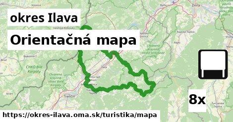 ilustračný obrázok k Orientačná mapa, okres Ilava