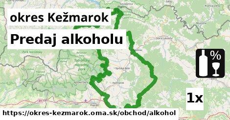 ilustračný obrázok k Predaj alkoholu, okres Kežmarok